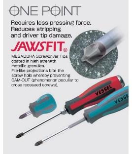 Destornillador estandarMEGADORA con punta JAWSFIT No.900