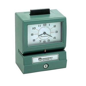 Reloj Mecánico de Control de Producción BP125 ACROPRINT
