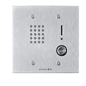 Sub-estacion con microfono y boton de llamado antivandalico NI-JA